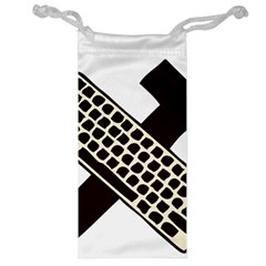 Hammer And Keyboard  Jewelry Bag by youshidesign