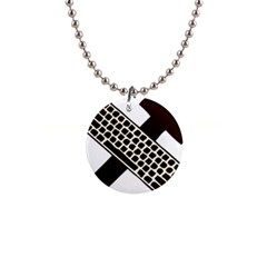 Hammer And Keyboard  Button Necklace by youshidesign
