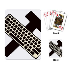 Hammer And Keyboard  Playing Cards Single Design by youshidesign