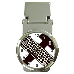Hammer And Keyboard  Money Clip With Watch by youshidesign