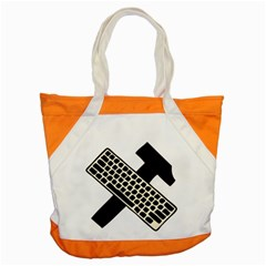 Hammer And Keyboard  Accent Tote Bag by youshidesign