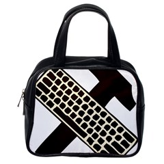 Hammer And Keyboard  Classic Handbag (one Side) by youshidesign