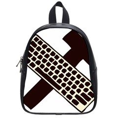 Hammer And Keyboard  School Bag (small) by youshidesign