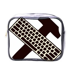 Hammer And Keyboard  Mini Travel Toiletry Bag (one Side) by youshidesign