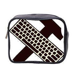 Hammer And Keyboard  Mini Travel Toiletry Bag (two Sides) by youshidesign