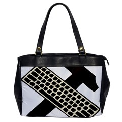 Hammer And Keyboard  Oversize Office Handbag (one Side) by youshidesign