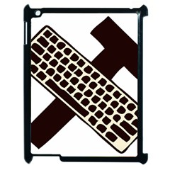 Hammer And Keyboard  Apple Ipad 2 Case (black) by youshidesign
