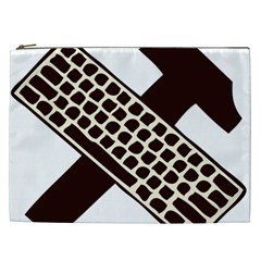 Hammer And Keyboard  Cosmetic Bag (xxl) by youshidesign