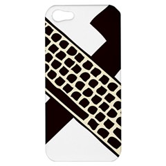 Hammer And Keyboard  Apple Iphone 5 Hardshell Case by youshidesign