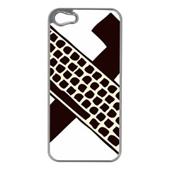 Hammer And Keyboard  Apple Iphone 5 Case (silver) by youshidesign