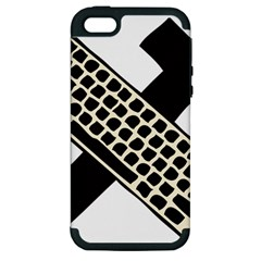 Hammer And Keyboard  Apple Iphone 5 Hardshell Case (pc+silicone) by youshidesign