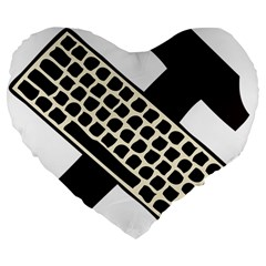 Hammer And Keyboard  19  Premium Heart Shape Cushion by youshidesign