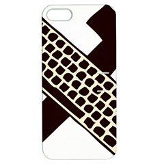 Hammer And Keyboard  Apple Iphone 5 Hardshell Case With Stand by youshidesign