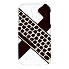 Hammer And Keyboard  Samsung Galaxy S4 I9500/i9505 Hardshell Case by youshidesign