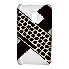 Hammer And Keyboard  Nokia Lumia 620 Hardshell Case by youshidesign