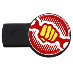 Power To The People 2gb Usb Flash Drive (round) by youshidesign