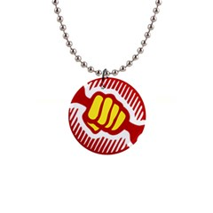 Power To The People Button Necklace by youshidesign