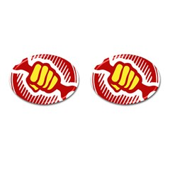 Power To The People Cufflinks (oval) by youshidesign