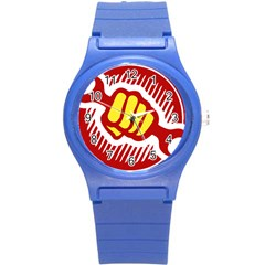 Power To The People Plastic Sport Watch (small) by youshidesign