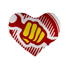 Power To The People 16  Premium Heart Shape Cushion  by youshidesign