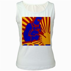 Soviet Robot Worker  Womens  Tank Top (White) by youshidesign