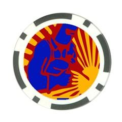 Soviet Robot Worker  Poker Chip by youshidesign