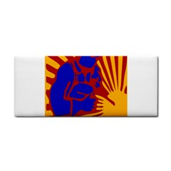 Soviet Robot Worker  Hand Towel by youshidesign