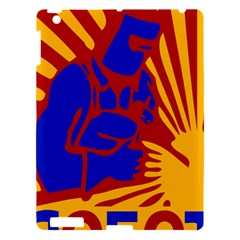 Soviet Robot Worker  Apple Ipad 3/4 Hardshell Case by youshidesign