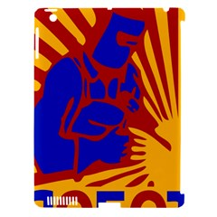 Soviet Robot Worker  Apple Ipad 3/4 Hardshell Case (compatible With Smart Cover) by youshidesign