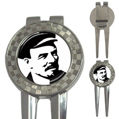 Lenin Portret Golf Pitchfork & Ball Marker by youshidesign