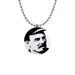 Lenin Portret Button Necklace by youshidesign