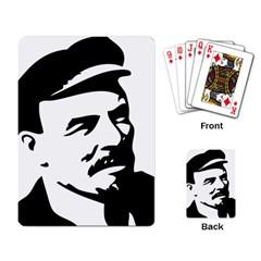 Lenin Portret Playing Cards Single Design by youshidesign