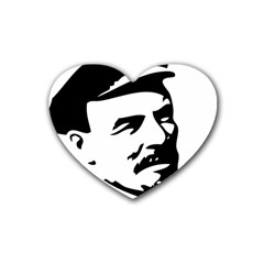 Lenin Portret Drink Coasters (heart) by youshidesign