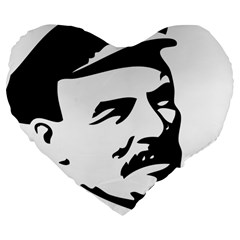 Lenin Portret 19  Premium Heart Shape Cushion by youshidesign