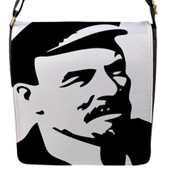 Lenin Portret Flap Closure Messenger Bag (small) by youshidesign