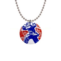Communist Party Of China Button Necklace by youshidesign