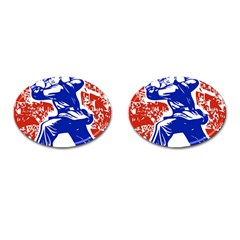 Communist Party Of China Cufflinks (oval) by youshidesign