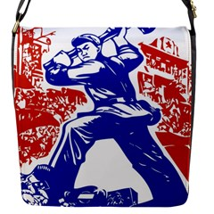 Communist Party Of China Flap Closure Messenger Bag (small) by youshidesign