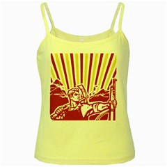 Octobe revolution Yellow Spaghetti Tank by youshidesign