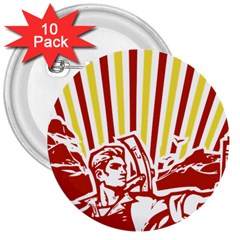 Octobe Revolution 3  Button (10 Pack) by youshidesign