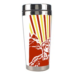 Octobe Revolution Stainless Steel Travel Tumbler by youshidesign