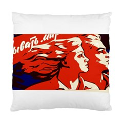 Communist Propaganda He And She  Cushion Case (single Sided)  by youshidesign