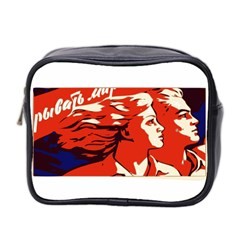 Communist Propaganda He And She  Mini Travel Toiletry Bag (two Sides) by youshidesign