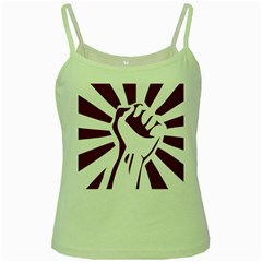 Fist Power Green Spaghetti Tank by youshidesign