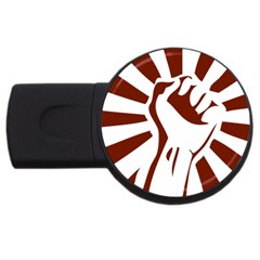 Fist Power 2gb Usb Flash Drive (round) by youshidesign