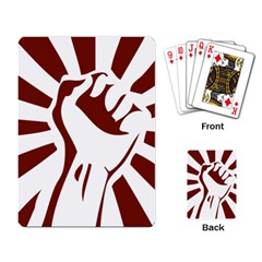 Fist Power Playing Cards Single Design by youshidesign