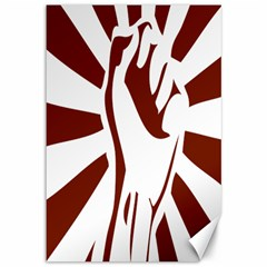 Fist Power Canvas 12  X 18  (unframed) by youshidesign