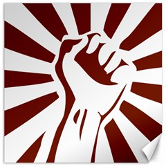 Fist Power Canvas 16  X 16  (unframed) by youshidesign