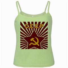 Hammer And Sickle Cccp Green Spaghetti Tank by youshidesign