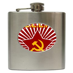 Hammer And Sickle Cccp Hip Flask (6 Oz) by youshidesign